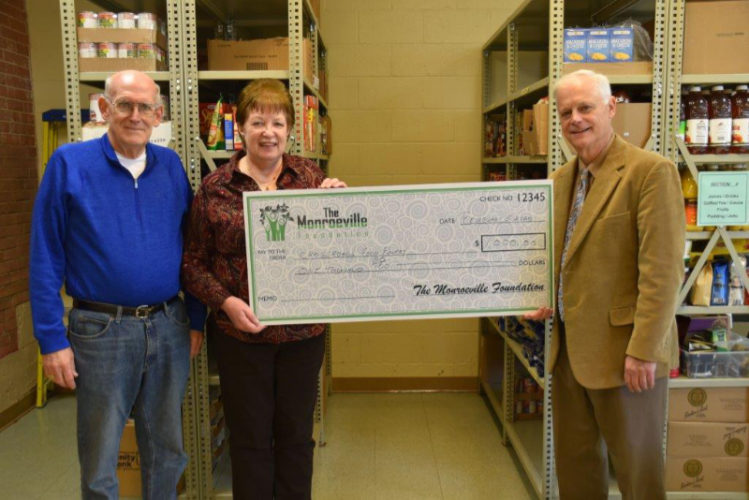 Monroeville Foundation makes annual donation to Crossroads Food Pantry in Monroeville, PA