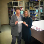 Monroeville Foundation Presents check to local food pantries